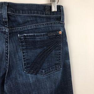 7FAM Dojo Wide Leg Jeans Size 27